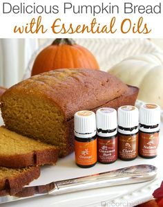 Not GF but can use the oil recipe for my own version. The Best Pumpkin Bread Recipe with or Without Essential Oils |Decorchick!®