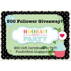 500 Follower Giveaway! Yay! TpT!