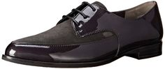 Paul Green Women's Cache Oxford: Pointed-toe oxford with suede and patent-leather upper featuring blind eyelets and three-eye lacing system Stacked heel Lightly padded footbed Paul Green, Graphite, Amazing Women, Designer Shoes, Chelsea Boots, Patent Leather, Oxford Shoes, Dress Shoes, Slippers