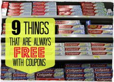 """If finding thing at a deep discount is good, than free is always better. Couponing is a way to get the things you need for free, or sometimes, get paid to purchase. My wife tries to buy from store with """"register rewards"""". That way, the free stuff you purchase below also gets you a … Continue reading »"""