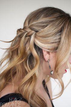 Waterfall Plait Hairstyle Tutorial
