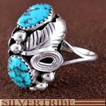 Navajo Indian Turquoise Sterling Silver Ring--love the traditional designs...