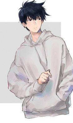 Anime Boys, Cool Anime Guys, Cute Anime Boy, Wolf Boy Anime, Anime Boy Hair, Dark Anime Guys, Cute Anime Couples, Cute Anime Character, Character Art