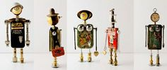 Love robots made from junk!  Great ideas here.