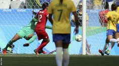 Canada won an Olympic bronze medal in the women's football with a 2-1 win over hosts Brazil in Sao Paulo.