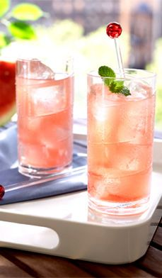 Watermelon coolers - A naturally sweet watermelon cooler is a refreshing alternative to lemonade!