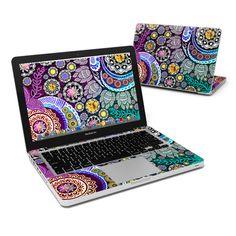 MacBook Pro 13in Skin - Mehndi Garden by Ancient ArtiZen | DecalGirl Apple Macbook Pro, Macbook Pro 13, Web Design Examples, Laptop Skin, Mehndi, Shoulder Bag, Accessories, Website, Garden