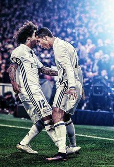 Ronaldo and Marcelo Cristiano Ronaldo Juventus, Cr7 Ronaldo, Ronaldo Football, Real Madrid Club, Real Madrid Players, World Best Football Player, Soccer Players, Real Madrid Marcelo, Premier League
