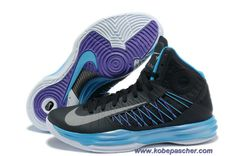 great fit 4b146 2c3c0 Authentic Nike 2013 Womens Lunar Hyperdunk Basketball Shoes Sport Pack  Black Metallic Silver Blue Glow For Wholesale. jessica zurica · Kobe Pas  Cher