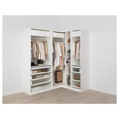 IKEA – PAX white Corner wardrobe Frame colour: white, Reinsvoll Source by Ikea Pax Corner Wardrobe, Corner Closet, Front Closet, Ikea Closet, Bedroom Wardrobe, Open Wardrobe, Wardrobe Storage, Bedroom Closet Design, Ikea Bedroom