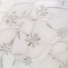 Tile Bar Narcissus Thassos And Mother Of Pearl Flower Tile | Tilebar.com, $107.95/sqft