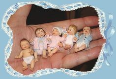 IGMA Artisan Patty Clark, OOAK Hand Sculpted Miniature Baby Dolls.