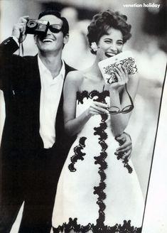 "Magazine: Vogue US, December 1990    Editorial: ""Venetian Holiday""    Model: Christy Turlington"