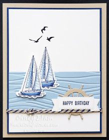 Control Freaks, for All the Men! Heart's Delight Cards, 2019 AC Sneak Peek, Sailing Home, Stampin' Up! Masculine Birthday Cards, Birthday Cards For Men, Masculine Cards, Happpy Birthday, Man Birthday, Tarjetas Stampin Up, Nautical Cards, Beach Cards, Stampin Up Catalog