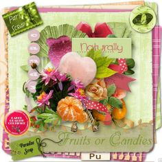 kit Fruits or candies By Pat'Scrap & Floralys Scrap, free at Paradise scrap shop - 2014