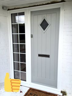 Black Composite Front Door With Side Panel.Pin By Sema Can On Kap Pencere Modeli In 2019 Modern . Composite Door Gallery In Hampshire UK - BuildmyDoor. Home and Family Black Composite Front Door, Grey Front Doors, Front Doors With Windows, Composite Door, Cottage Front Doors, Cottage Door, House Front Door, Cities, Pergola