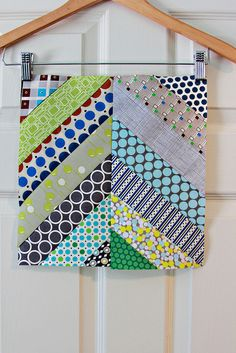 herringbone block by Stiches & Scissors.  Love this!