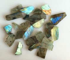 209CT NATURAL LABRADORITE ROUGH SLICE GEMS FLASHY LOOSE LOT RAW MINERAL SPECIMEN…