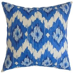 Ulrike Blue Ikat Down Filled Throw Pillow   Overstock™ Shopping - Great Deals on PILLOW COLLECTION INC Throw Pillows