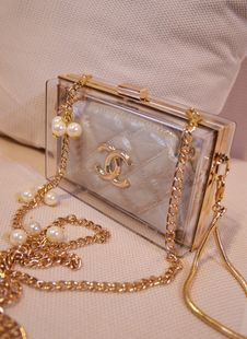 Europe and the new picture jelly transparent acrylic clutch bag chain of small fragrant wind Quilted handbags diagonal-ZZKKO