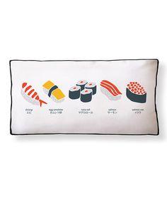 Look at this #zulilyfind! Simply Sushi Pillow #zulilyfinds
