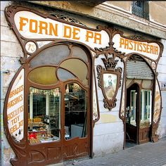 art nouveau shop