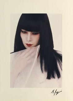 "zzzze: "" Hideki Fujii, Untitled A,1980 "" Fujii Hideki 藤井 秀樹 (1934-2010) Untitled A - (model : Yamaguchi Sayoko 山口 小夜子 (1949-2007) - Japan - 1980"