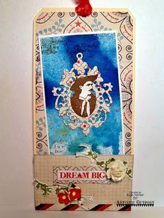 Mixed Media Tad by Kate's Scrap Yard for Artistic Outpost Wander and Dream