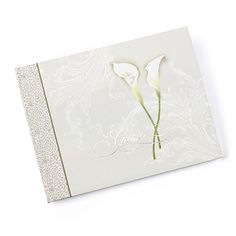 The Calla Lily Wedding Guest Book draws inspiration from the calla lily flower, the result? A taupe guest book with Calla Lilies and silver foil details. Unique Wedding Favors, Wedding Party Favors, Wedding Invitations, Craft Wedding, Wedding Cake, Wedding Reception, Personalized Champagne Flutes, Personalized Wedding, Taupe Wedding