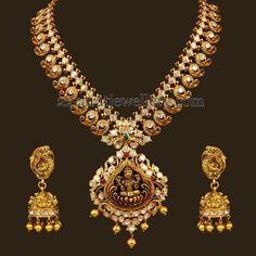 Jewellery Designs: Dull Finish Polki Mango Mala