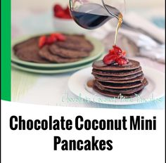 Chocolate coconut mini pancakes in The 4 Blades Magazine (Easter edition)
