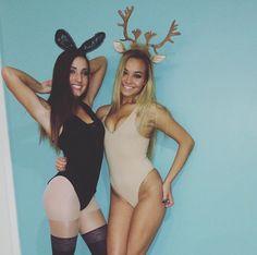 Bunny and Bambi costume!