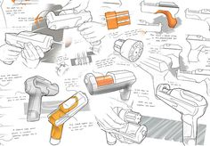 Cordless Drill Sketches #ID #Sketching #ProductDesign