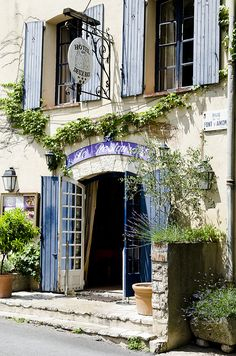 Provence, France - doors and shutters thrown open to the world. Provence France, Paris France, Belle France, French Countryside, South Of France, Windows And Doors, Arched Doors, Nantucket, Portal