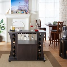 Furniture of America Tiko Modern Espresso Buffet with Wine Rack | Overstock.com Shopping - The Best Deals on Buffets