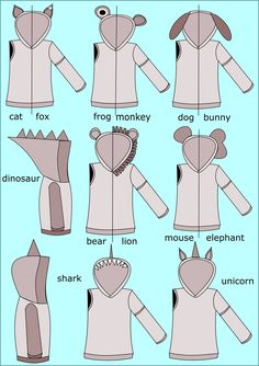 All Ears Hoodie Sewing Pattern (PDF) I must make all the hoodies!