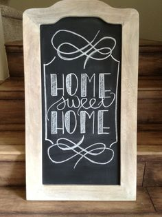 Chalkboard design Home Sweet Home