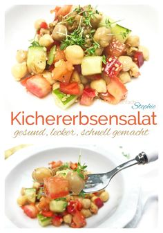 Kichererbsensalat Rezept: idealer Eiweißlieferant Slow Food, Mozzarella, Potato Salad, Veggies, Snacks, Ethnic Recipes, Winter, Post, Fitness