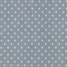 Textilwachstuch, Blau mit weißen Punkten  11,95m