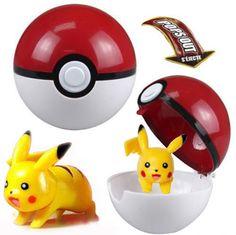 Pokémon POKEMON Pokeball Pop-up PVC Plastic Game Toy Pikachu Figure Cake Toppers #Pokemon