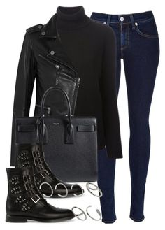 """Style #6731"" by vany-alvarado ❤ liked on Polyvore featuring rag & bone, Valentino, Karl Lagerfeld, Yves Saint Laurent and ASOS"
