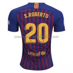 half off 3a71d dc0aa Fodboldtrøjer La Liga Barcelona 2018-19 Sergi Roberto 20 Hjemmetrøje Fc  Barcelona, Klubb,
