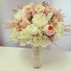 gorgeous pink romantic vintage wedding flower bouquet, bridal bouquet, wedding flowers, add pic source on comment and we will update it. www.myfloweraffair.com can create this beautiful wedding flower look.