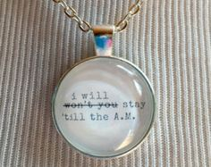 Stay 'Till The AM - One Direction Fan Necklace - 1D