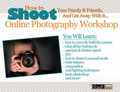 The Best Online Photography Class Ever! Learn how to use that new DLSR camera you just got for Christmas.