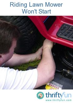 This is a guide about troubleshooting a riding lawn mower that won't start. Mowing the grass is one of the rites of summer, but now your mower won't start. There are many things that can cause a riding mower to refuse to fire up.