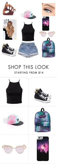 """""""Warped tour outfit"""" by taylorehemmings ❤ liked on Polyvore featuring NLY Trend, Converse, Vans, Le Specs and Casetify"""