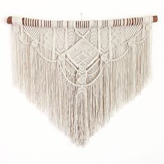 PETRA. Macrame wall hanging tapestry by AncestralStore on Etsy