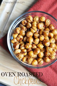 If you are looking for a different, but balanced snack to munch on then these oven roasted chickpeas are for you.