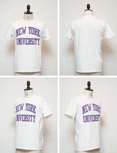 "More photos2: NEW YORK UNIVERSITY""NEW YORK UNIVERSITY""C/N S/S 6.6oz オールドプリントT / Audience"